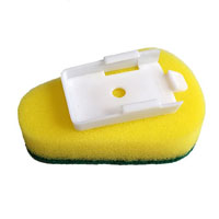 CLEANLINK DISH WAND REFILL SCOURER PADS GREEN/YELLOW PACK 3