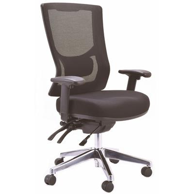 Image for BURO METRO II MESH CHAIR EXTRA HIGH BACK WITH ARMS BLACK from OFFICE NATIONAL CANNING VALE, OFFICE TOOLS OPD & OMNIPLUS