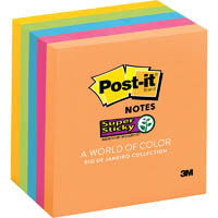POST-IT 6545-SSUC SUPER STICKY NOTES 76 X 76MM RIO DE JANEIRO ASSORTED COLOURS PACK 5