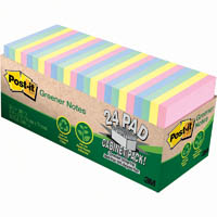 POST-IT 654R-24CP-AP 100% RECYCLED GREENER NOTES 76 X 76MM HELSINKI CABINET PACK 24