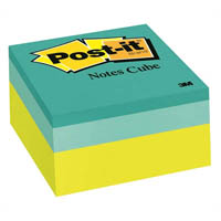 POST-IT 2054-PP ORIGINAL NOTES CUBE 400 SHEETS 76 X 76MM GREEN WAVE