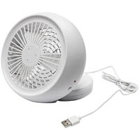 NERO USB DESK FAN 110MM WHITE