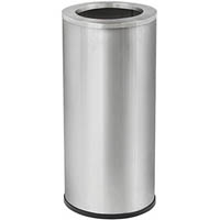 COMPASS BRUSHED STAINLESS STEEL TIDY BIN WITH GALVANISED LINER 45L