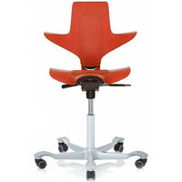 CAPISCO PULS SADDLE CHAIR RED / SILVER
