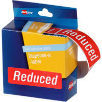 AVERY 937320 MESSAGE LABELS REDUCED 64 X 19MM RED PACK 250