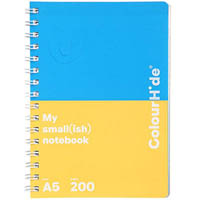 COLOURHIDE MY SMALL NOTEBOOK 200 PAGE A5 ASSORTED