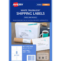 AVERY 936039 J8165 PARCEL LABELS INKJET A4 8UP WHITE PACK 400