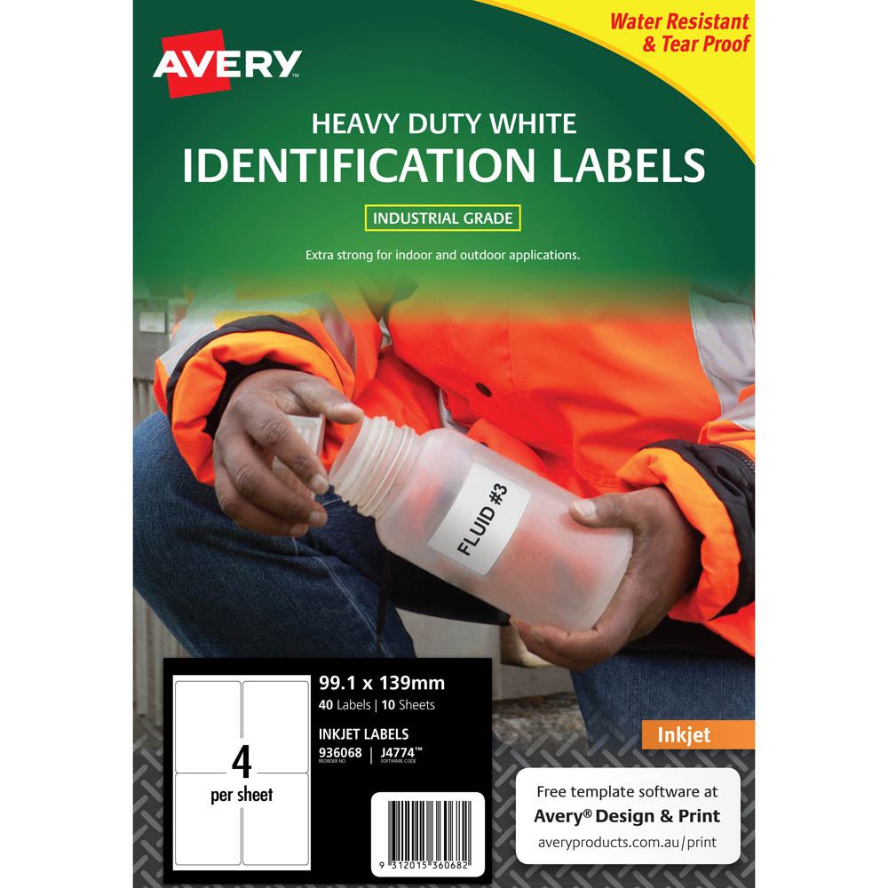Heavy Duty Inkjet Labels