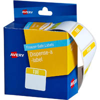 AVERY 937322 FREEZER SAFE FOOD CONTAINER LABELS TUESDAY 24 X 24MM PACK 100
