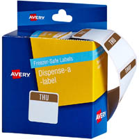 AVERY 937324 FREEZER SAFE FOOD CONTAINER LABELS THURSDAY 24 X 24MM PACK 100