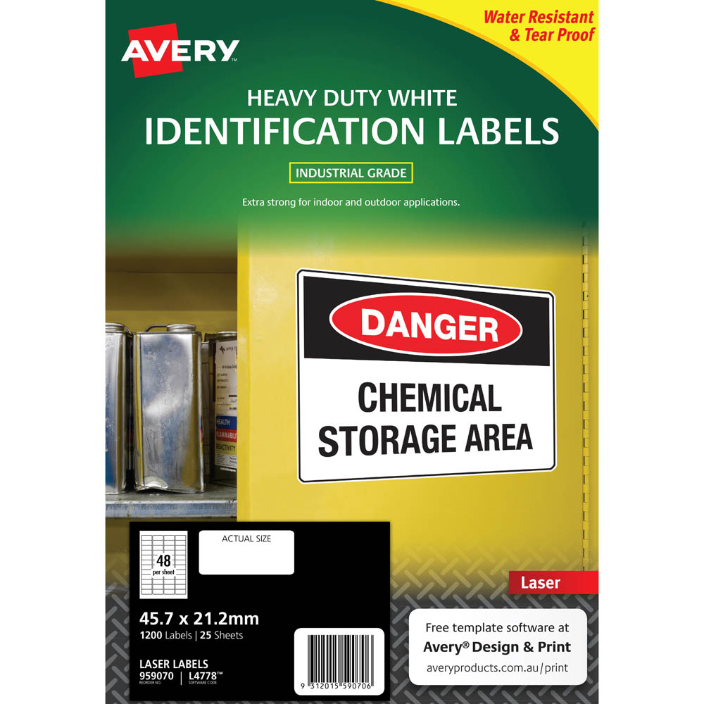 Heavy Duty Laser Labels