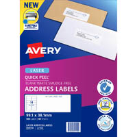 AVERY 959110 L7163 QUICK PEEL ADDRESS LABEL WITH SURE FEED LASER 14UP WHITE PACK 40
