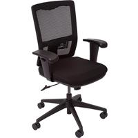 OFFICE NATIONAL DELUXE OPERATOR CHAIR MESH BACK WITH ARMS BLACK