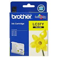 BROTHER LC37Y INK CARTRIDGE YELLOW