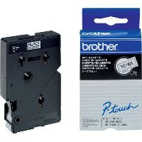 BROTHER TC-101 LABELLING TAPE 12MM BLACK ON CLEAR