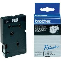 BROTHER TC-201 LABELLING TAPE 12MM BLACK ON WHITE