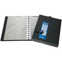 COLBY QUICK TRANSFER DISPLAY BOOK REFILLABLE 40 POCKET A4 BLACK