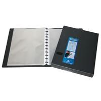 COLBY QUICK TRANSFER DISPLAY BOOK REFILLABLE 60 POCKET A4 BLACK