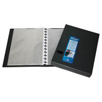 COLBY QUICK TRANSFER DISPLAY BOOK REFILLABLE 80 POCKET A4 BLACK