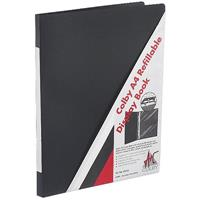 COLBY DISPLAY BOOK INSERT COVER PORTRAIT REFILLABLE 20 POCKET A4 BLACK