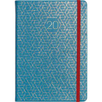 DEBDEN 2020 VAUXHALL PLUS POCKET DIARY WEEK TO VIEW TEAL AND HEXAGON