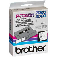 BROTHER TX-251 LABEL TAPE 24MM BLACK ON WHITE
