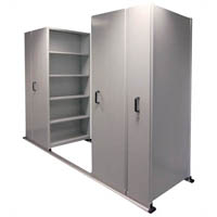 APC EZISLIDE AISLE SAVER 5 SHELVES 3500 X 2175 X 900 X 400MM CYBER GREY