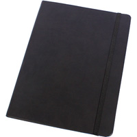 MODENA LARGE PU JOURNAL 181 X 250MM 192 PAGE BLACK