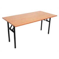 RAPIDLINE FOLDING TABLE 1500 X 750MM LAMINATE TOP BEECH