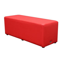 DURASEAT OTTOMAN RECTANGLE RED