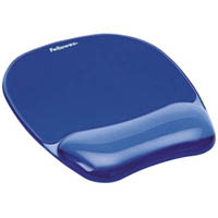 FELLOWES GEL CRYSTALS MOUSE PAD AND WRIST REST BLUE