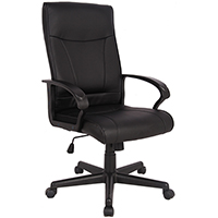 SYLEX HEMSWORTH EXECUTIVE HIGH BACK CHAIR BONDED LEATHER BLACK