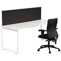 RAPID INFINITY 1 PERSON LOOP LEG SINGLE SIDED WORKSTATION WITH SCREEN 1800 X 700MM WHITE