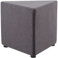RAPIDLINE MARS TRIANGLE OTTOMAN CHARCOAL