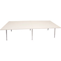 RAPIDLINE RAPID AIR BOARDROOM TABLE 3200 X 1200 X 750MM WHITE