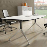 POTENZA BOARDROOM TABLE 2400 X 1200 X 750MM WHITE 2-PACK FINISH