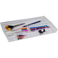 ITALPLAST DRAWER TIDY 8 COMPARTMENT CLEAR