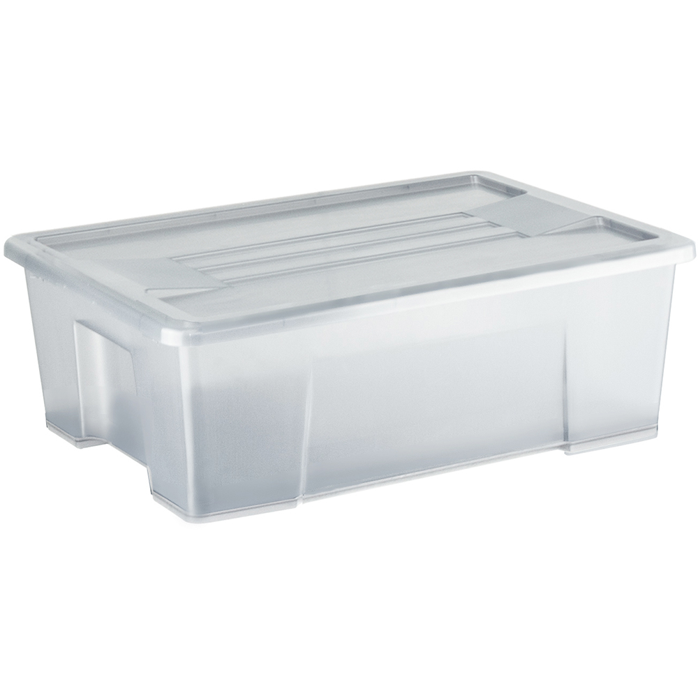Italplast Storage Box With Lid 10 Litre Clear Office National