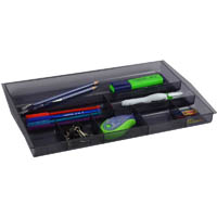 ITALPLAST DRAWER TIDY 8 COMPARTMENT TINTED SMOKE