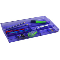 ITALPLAST DRAWER TIDY 8 COMPARTMENT TINTED PURPLE