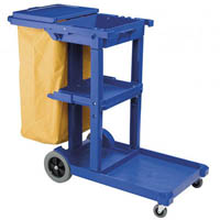OATES JANITOR TROLLEY DARK BLUE WITH LID