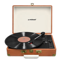 MBEAT WOODSTOCK RETRO TURNTABLE RECORDER WITH BLUETOOTH USB DIRECT RECORDING