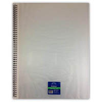 PROTEXT FIXED POCKET DISPLAY BOOK WIRO BOUND 30 POCKET A3 CLEAR