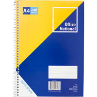 OFFICE NATIONAL PREMIUM SPIRAL NOTEBOOK SIDE BOUND 240 PAGE A4