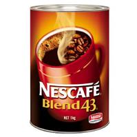NESCAFE BLEND 43 INSTANT COFFEE 1KG CAN