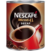 NESCAFE BLEND 43 DECAF INSTANT COFFEE 375GM