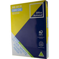 OFFICE NATIONAL A3 ULTRA WHITE CARBON NEUTRAL COPY PAPER 80GSM WHITE 500 SHEETS