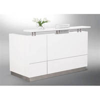 HUGO RECEPTION COUNTER 2200 X 950 X 1150MM WHITE
