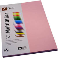 QUILL COLOURED COPY PAPER 80GSM A4 MUSK PACK 100 SHEETS