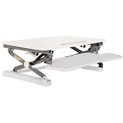 Image for RAPID RISER MEDIUM DESK BASED ADJUSTABLE WORKSTATION 890 X 590MM WHITE from OFFICE NATIONAL CANNING VALE, OFFICE TOOLS OPD & OMNIPLUS